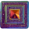 Glitz Sew-on Stone 10pcs Square 40mm Fuchsia Aurora Borealis